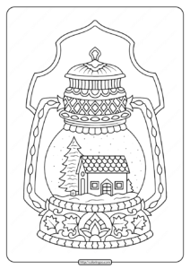 Winter Snow Globe Adult Coloring Pages