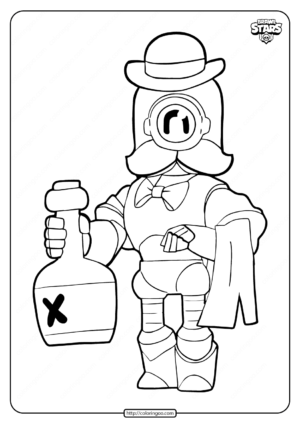Wizard Barley Brawl Stars Coloring Pages