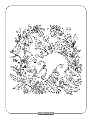 Badger Pdf Coloring Pages
