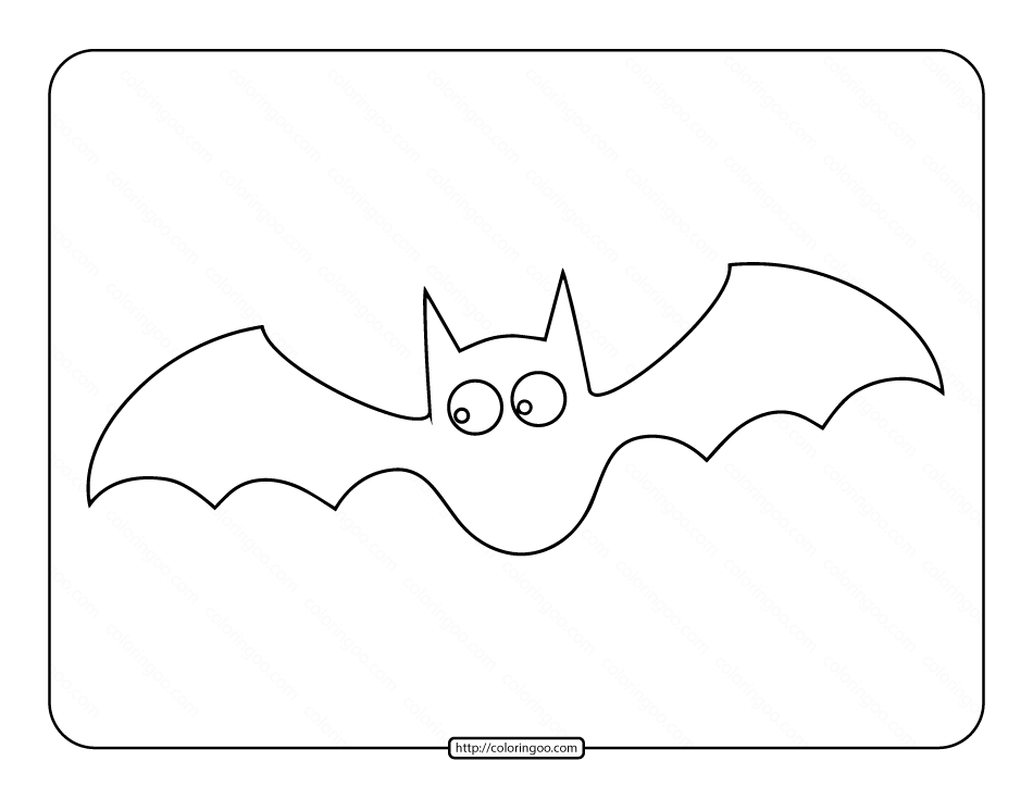 Bat Coloring Pages