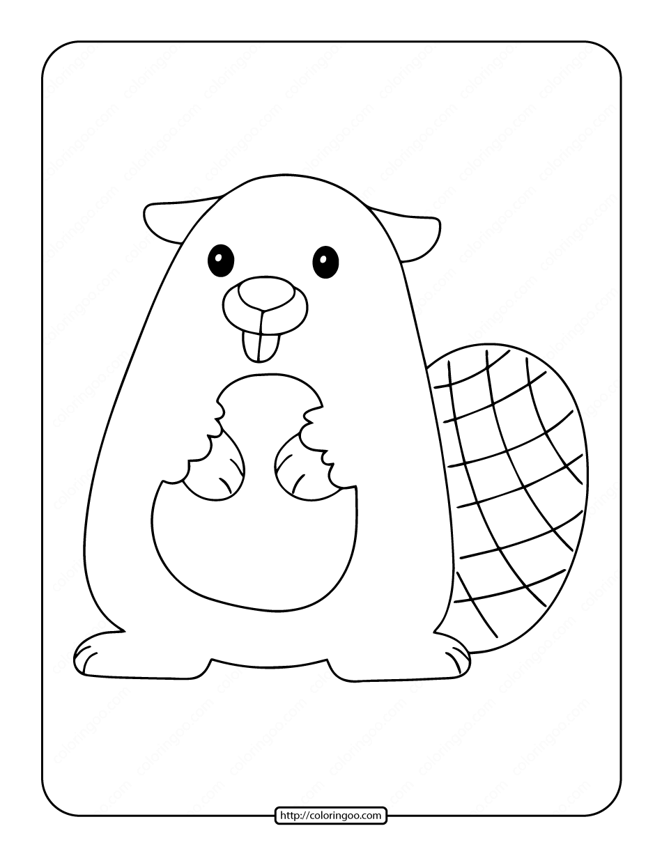 Beaver Coloring Pages for Kids