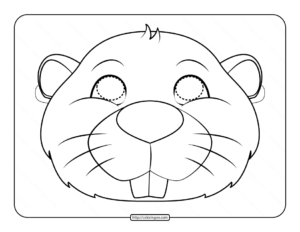 Beaver Mask Coloring Page