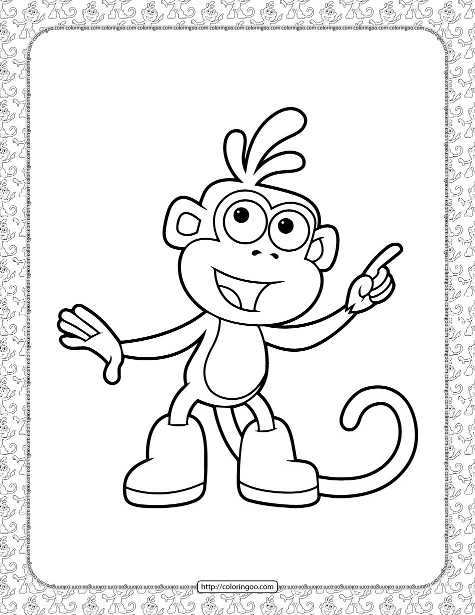 Boots Coloring Pages for Kids