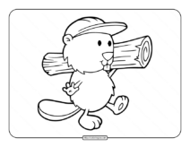 Builder Beaver Coloring Page