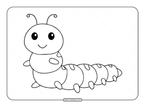 Caterpillar Coloring Pages for Kids