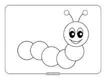 Cute Caterpillar Coloring Page