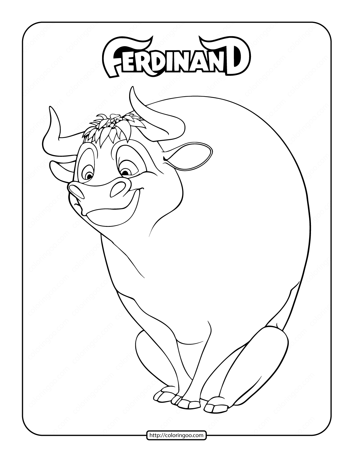 Ferdinand Coloring Page