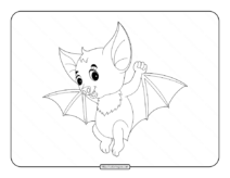 Free Halloween Bat Coloring Pages