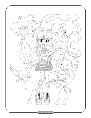 Free Pokemon Monster High Coloring Pages