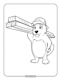 Free Printable Beaver Coloring Pages