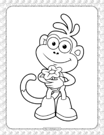 Free Printable Boots Coloring Pages