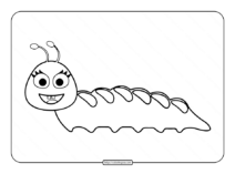 Free Printable Caterpillar Coloring Page
