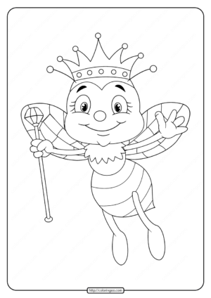 Free Printable Queen Bee Coloring Pages