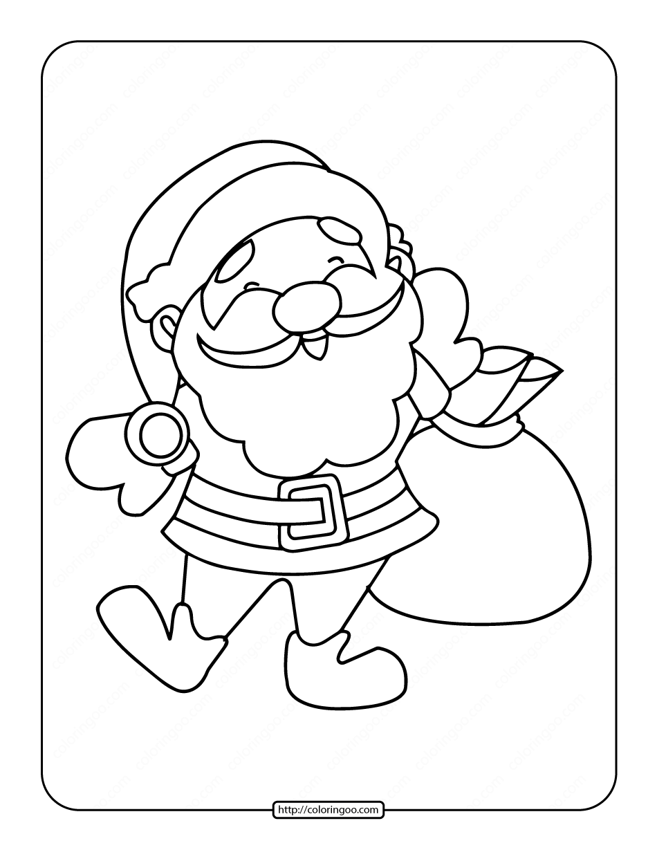Free Printable Santa Claus Coloring Pages