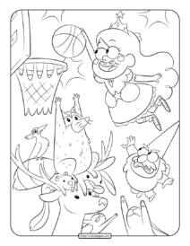 Gravity Falls Characters Mabel Coloring Pages