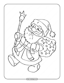 Happy Santa Claus Coloring Page