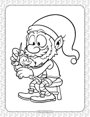 Leprechaun Painting a Duck Coloring Page