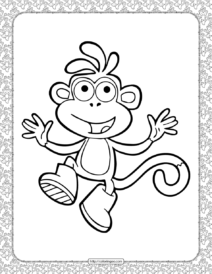 Monkey Coloring Page for Kids