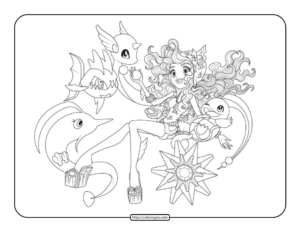 Pokemon Monster High Coloring Pages