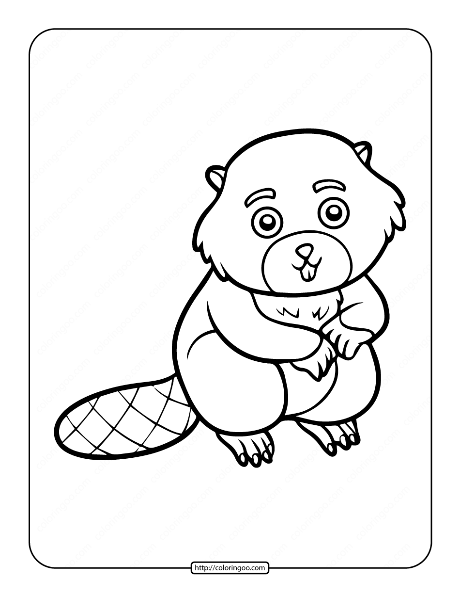 Printable Beaver Coloring Book