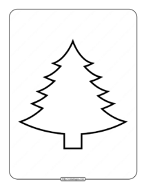 Printable Blank Christmas Tree Coloring Page