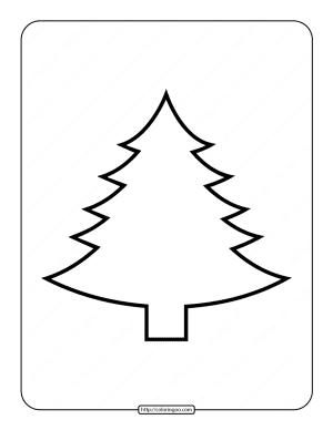 Printable Blank Christmas Tree Coloring Page