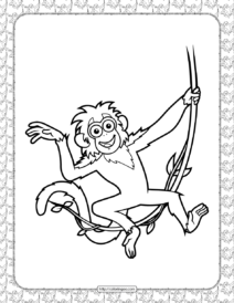 Printable Bobo Coloring Page