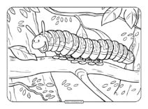 Printable Caterpillar Coloring Page
