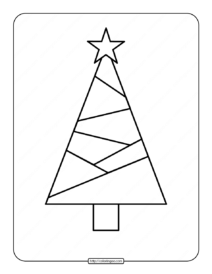 Printable Christmas Tree Coloring Page 01