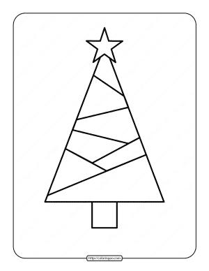 Printable Christmas Tree Coloring Page 01