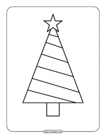 Printable Christmas Tree Coloring Page 03