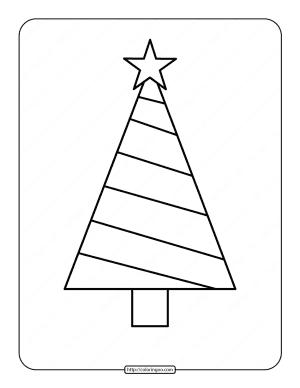 Printable Christmas Tree Coloring Page 03