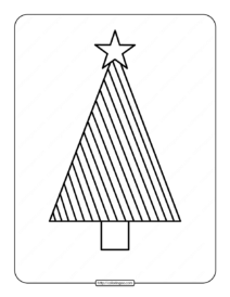 Printable Christmas Tree Coloring Page 04