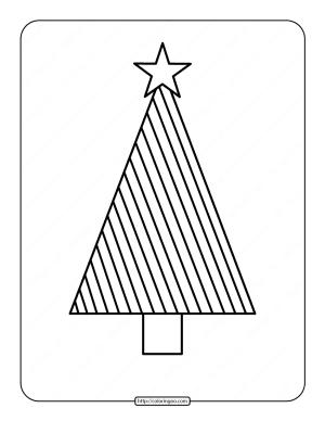 Printable Christmas Tree Coloring Page 04