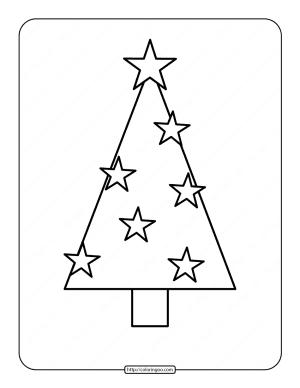 Printable Christmas Tree Coloring Page 05