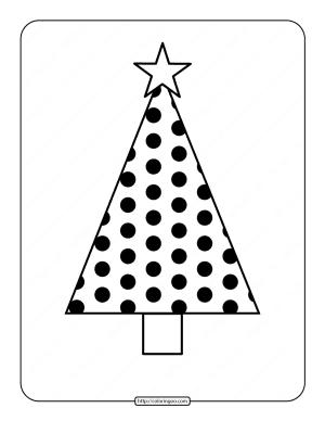 Printable Christmas Tree Coloring Page 06