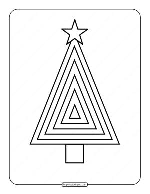 Printable Christmas Tree Coloring Page 07