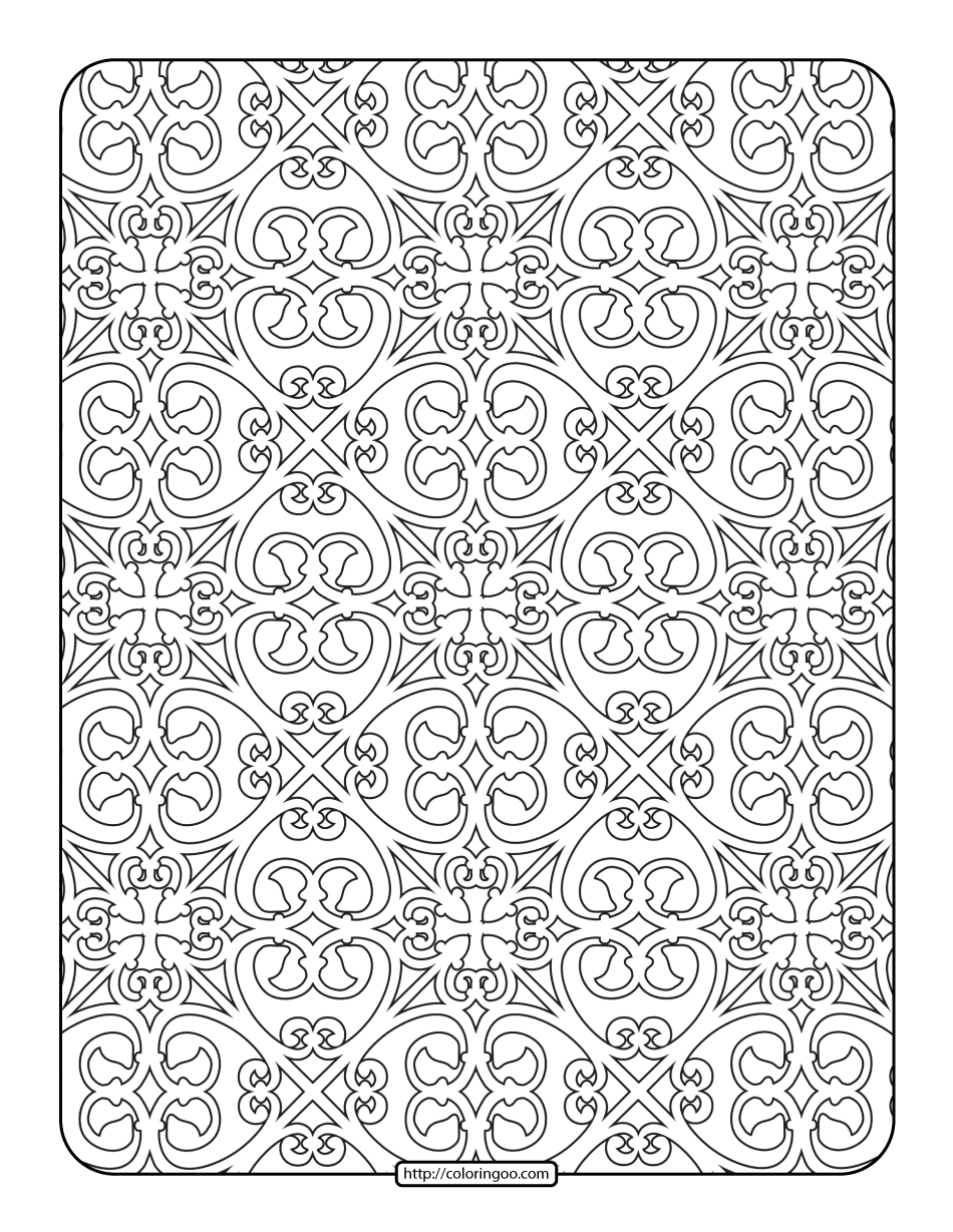Printables Geometric Filigree Coloring Page