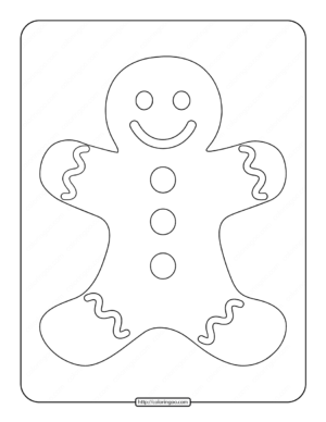 Printable Gingerbread Man Coloring Page