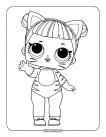 Printable LOL Surprise Baby Cat Coloring Pages