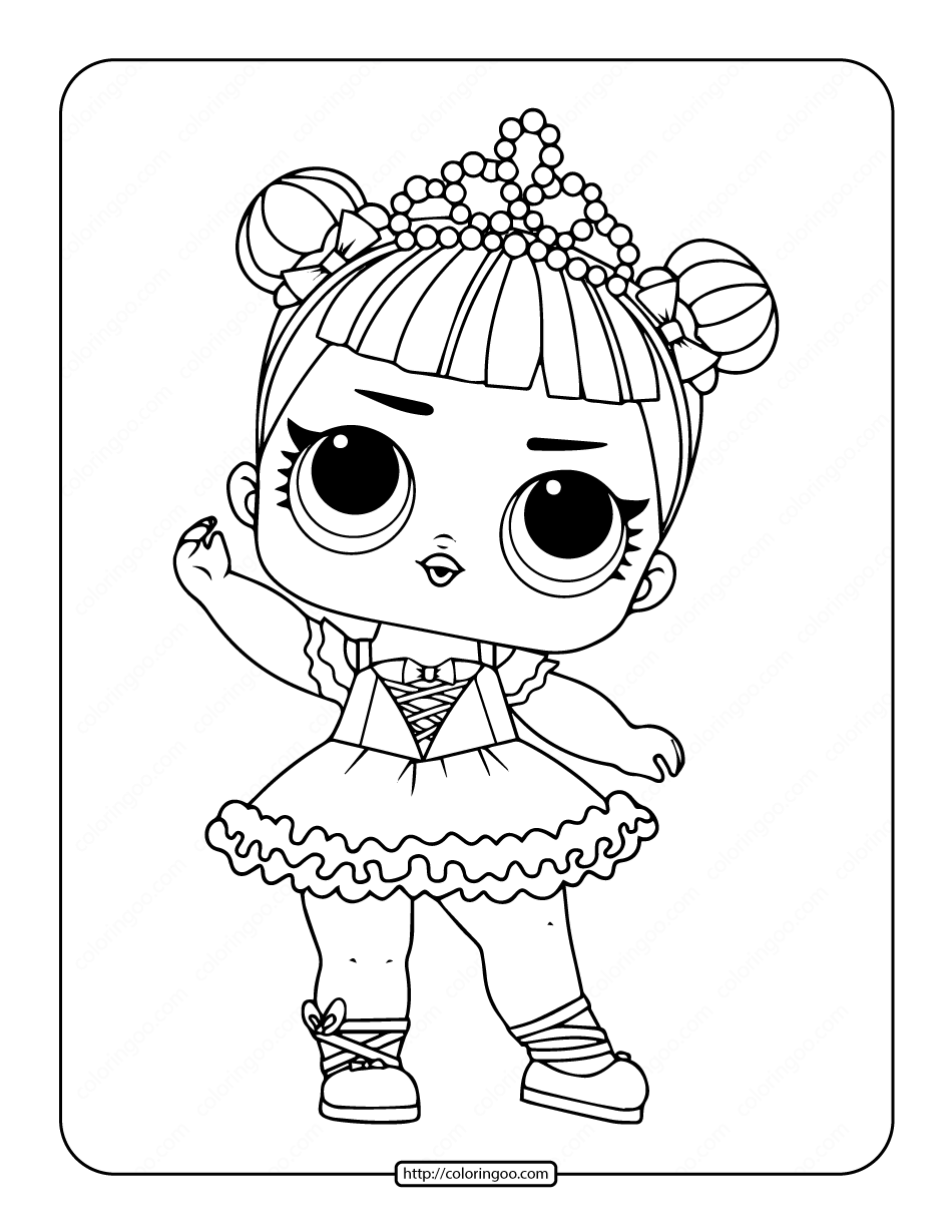 Printable LOL Surprise Center Stage Coloring Pages
