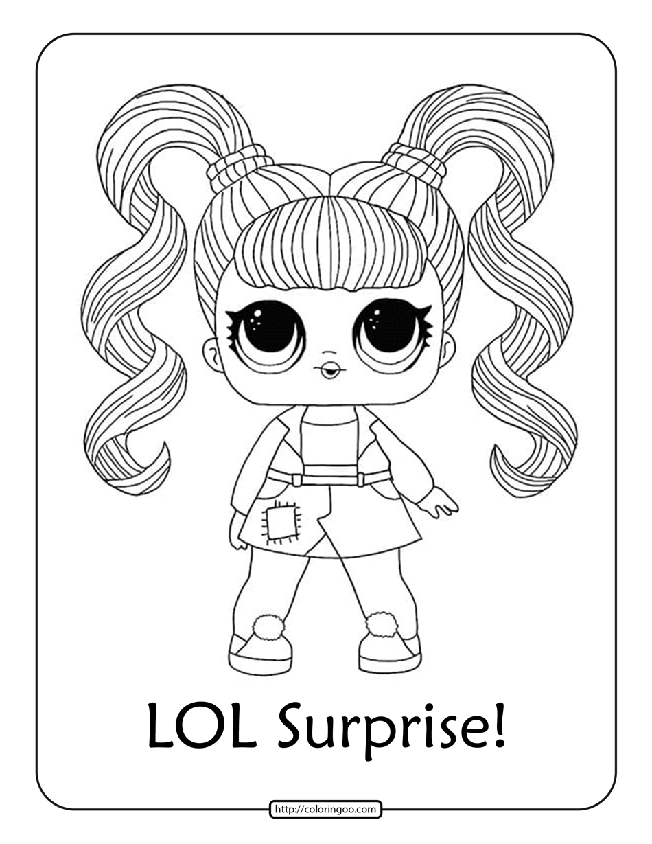 Printable LOL Surprise Characters Coloring Pages