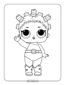 Printable LOL Surprise Cosmic Queen Coloring Pages