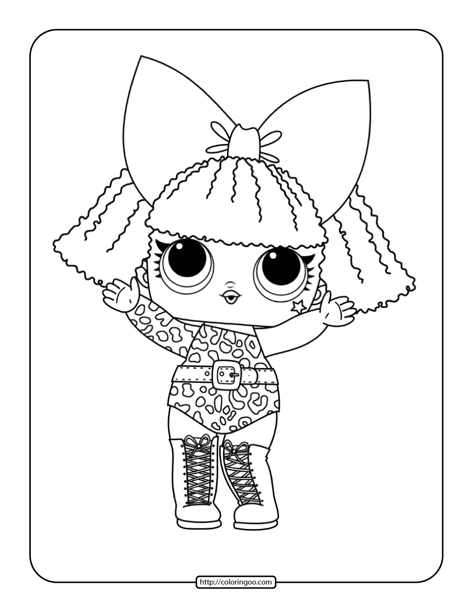 Printable LOL Surprise Diva Coloring Pages