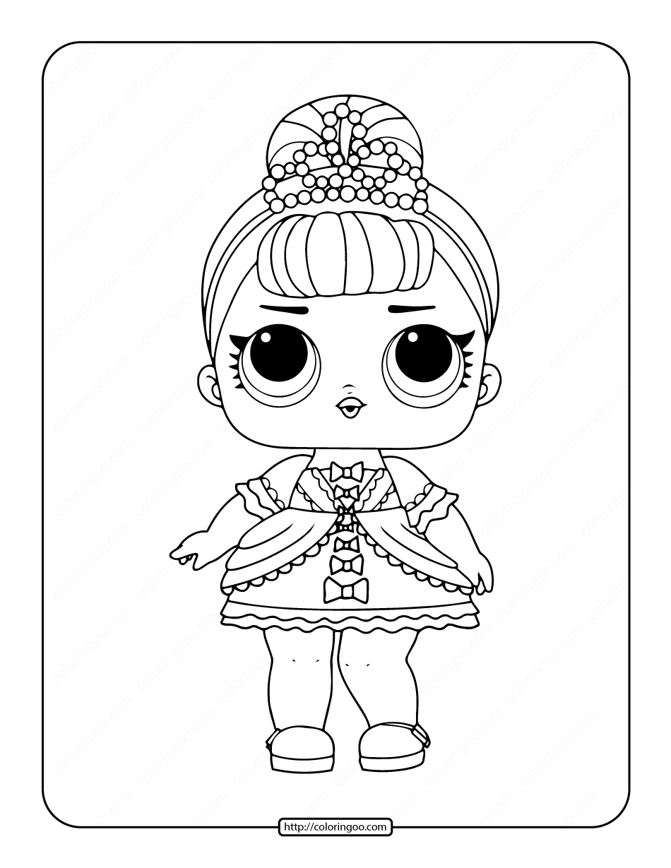 Printable LOL Surprise Fancy Coloring Pages