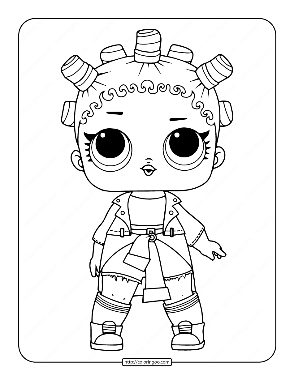 Printable LOL Surprise Fresh Coloring Page