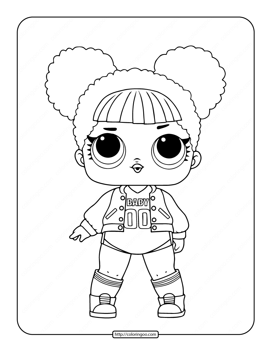 Printable Lol Surprise Hoops Mvp Coloring Page