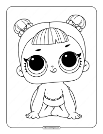 Printable Lol Surprise Lil Center Stage Coloring Page