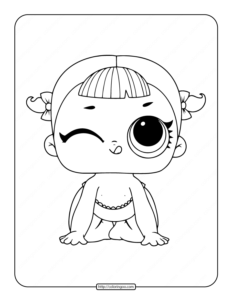 Printable Lol Surprise Lil Cheer Captain Coloring Page