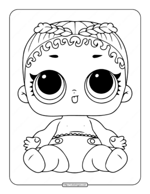 Printable Lol Surprise Lil M.C. Swag Stage Coloring Page